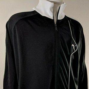 Men's Puma full zip black & white track jacket XL